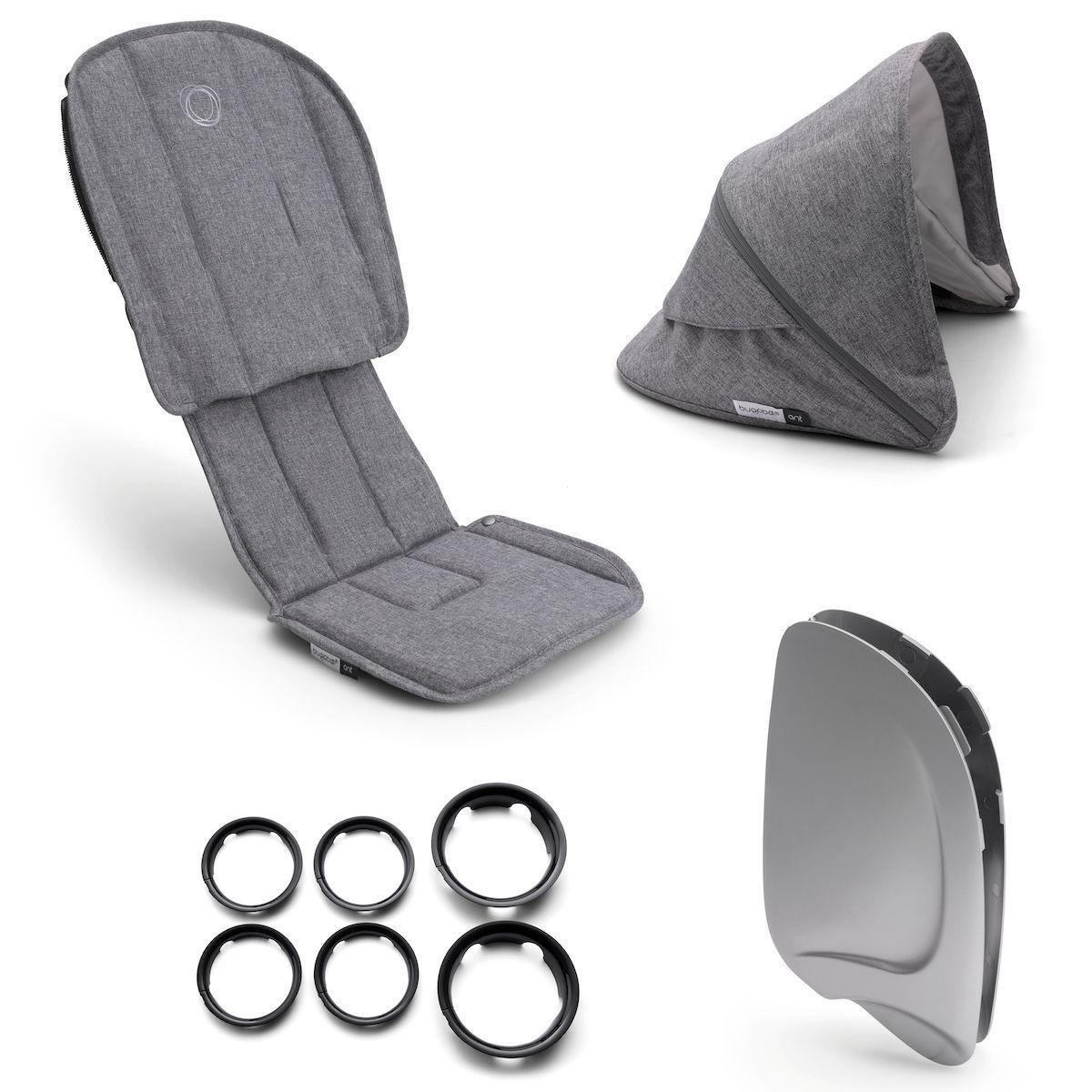 Style set complet ANT Bugaboo grey melange-grey melange