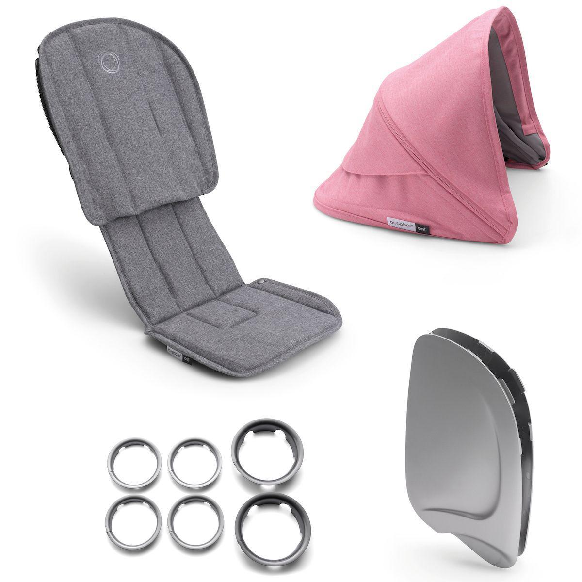 Style set complet ANT Bugaboo grey melange-pink melange