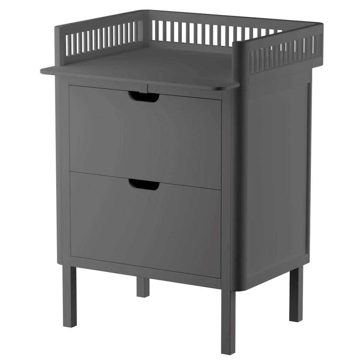 Table à langer 2 tiroirs Sebra classic grey