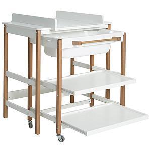 Table à langer-bain SMART Quax blanc-naturel