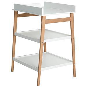 Table à langer HIP Quax blanc-naturel