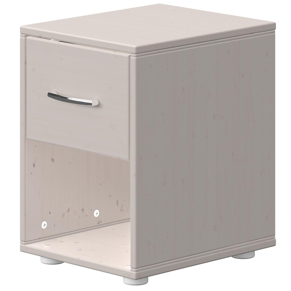 Table de chevet 1 tiroir CLASSIC Flexa grey washed