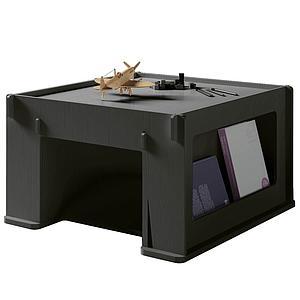 Table de jeu 76x80cm THEO Mathy by Bols gris basalte