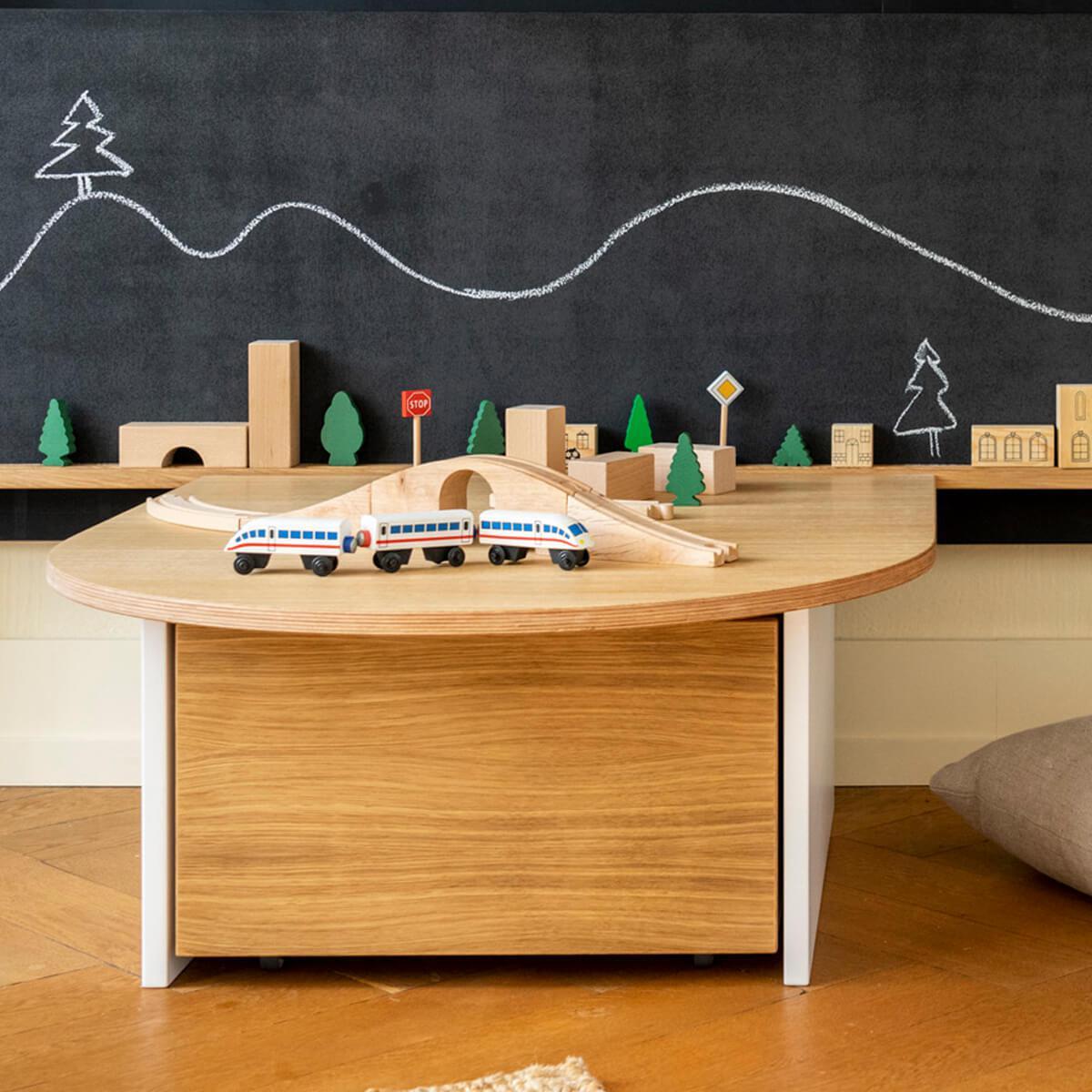Table de jeu KASVA Debreuyn Multiplex placage chêne laqué blanc