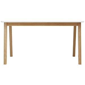 Table enfant 55x95cm IVAR Bopita blanc-naturel