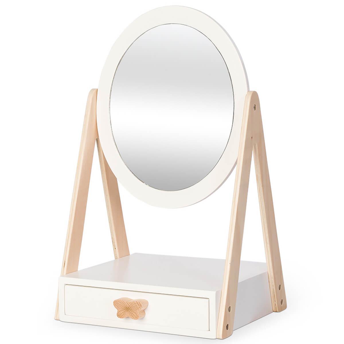 Table-miroir 1 tiroir Astrup blanc