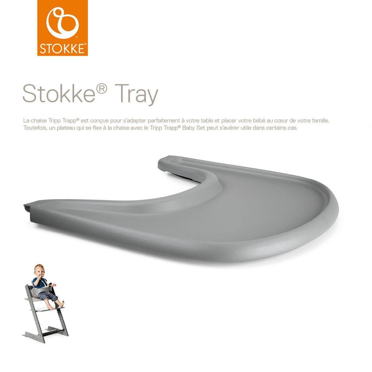 Tablette chaise haute TRAY Stokke gris tempête