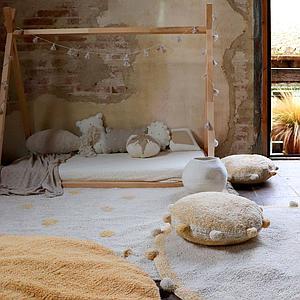 Tapis 120x160cm HIPPY DOTS Lorena Canals Natural-Honey