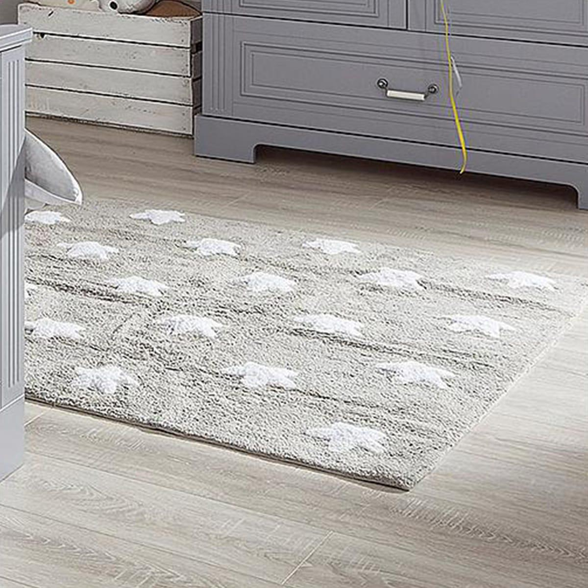 Tapis 120x160cm STARS Lorena Canals grey-white