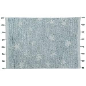 Tapis 120X175cm HIPPY STARS Lorena Canals aqua blue
