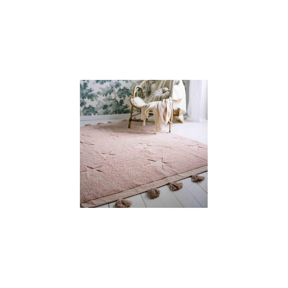 Tapis 120X175cm HIPPY STARS Lorena Canals vintage nude