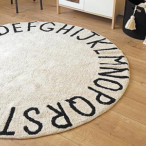 Tapis rond 150cm ROUND ABC Lorena Canals natural-black