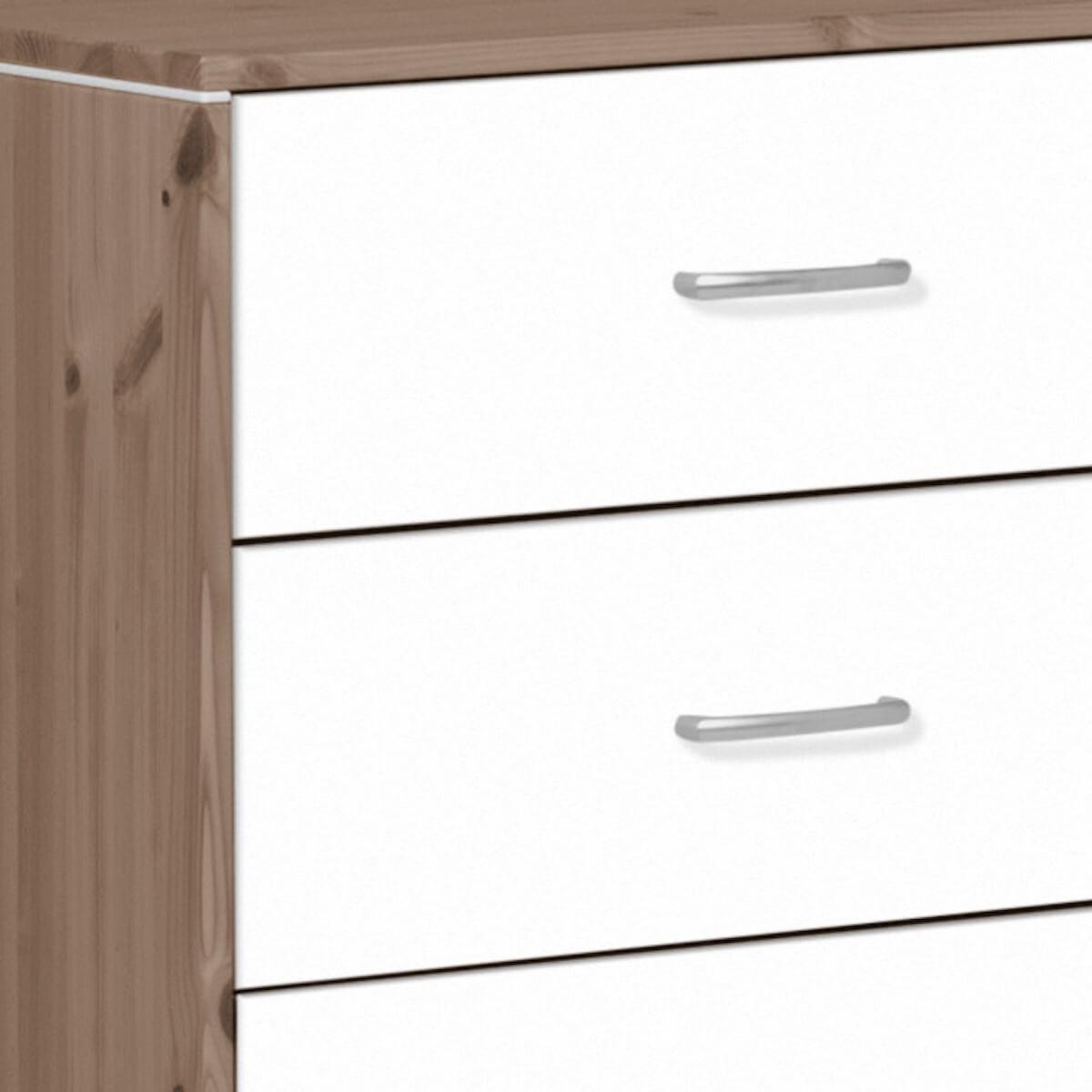 TERRA by Flexa Commode avec 3 tiroirs et baguettes blanches