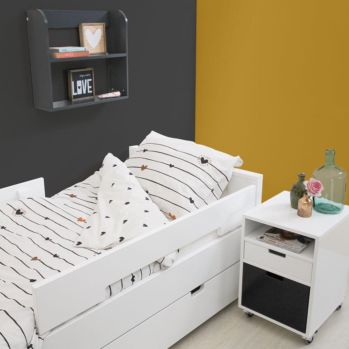 Tiroir de lit enfant 70x150 cm MIX & MATCH Bopita blanc