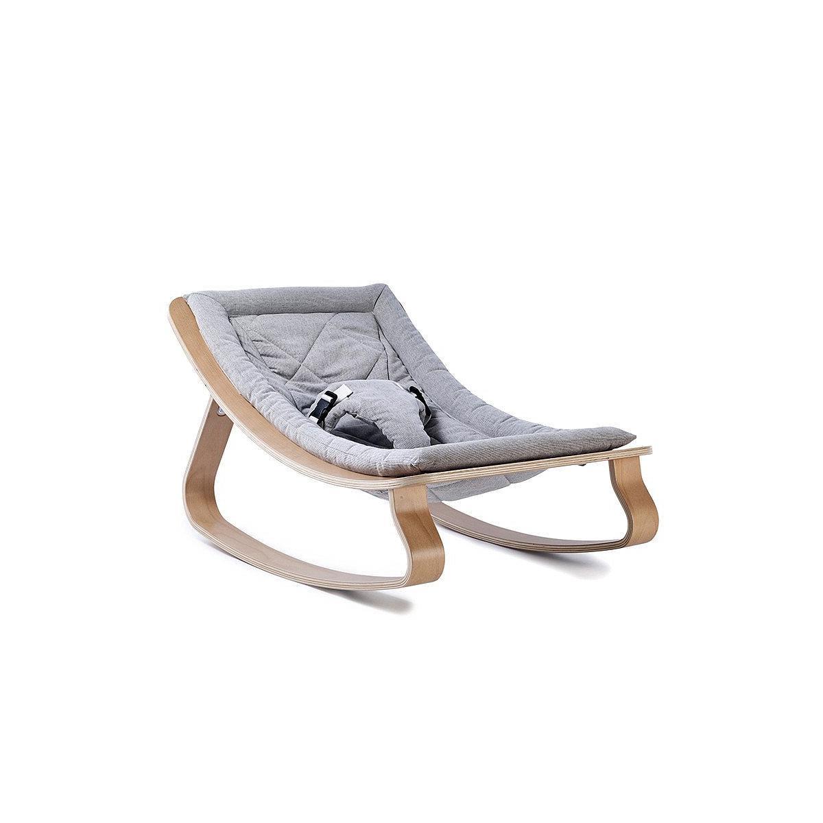 Transat bébé LEVO Charlie Crane beech-sweet grey