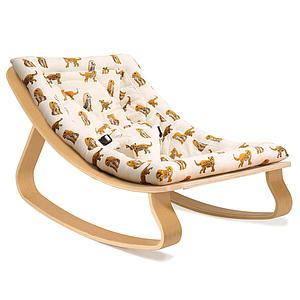 Transat bébé LEVO Charlie Crane hêtre-Jaguar