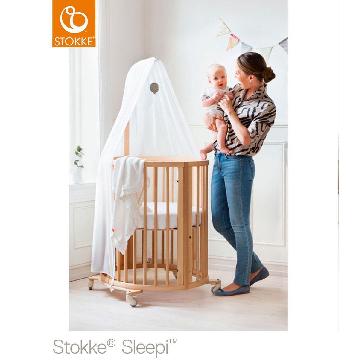 Voile de lit SLEEPI Stokke blanc