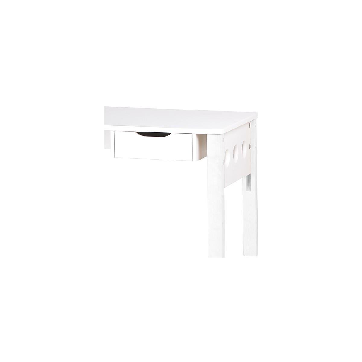 WHITE by Flexa Bureau réglable en MDF pieds blanc