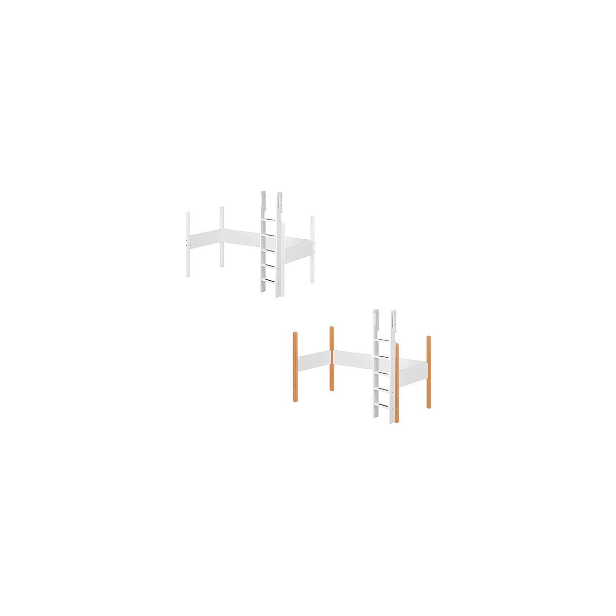 WHITE by Flexa Echelle et pieds pour lit mezzanine en MDF 190x90 cm