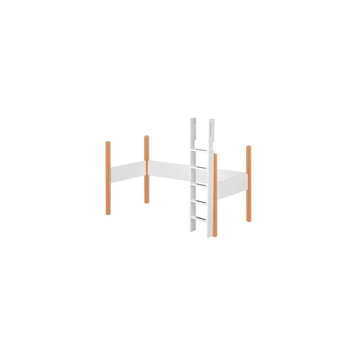 WHITE by Flexa Echelle et pieds pour lit mezzanine en MDF 200x90 cm
